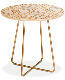 Deny Designs Elisabeth Fredriksson en Geo Round Side Table