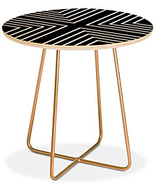 Deny Designs Kelly Haines X Marks the Spot Round Side Table
