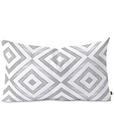 Little Arrow Design Co watercolor diamonds in grey Oblong Throw Pillow