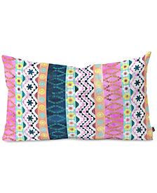 Deny Designs Schatzi Brown Aviana Boho Stripe Oblong Throw Pillow