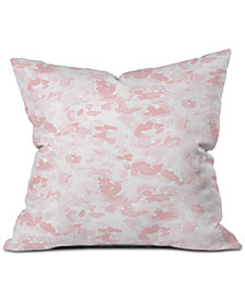 Deny Designs Jacqueline Maldonado Abstract Flora Millennial Pink Throw Pillow