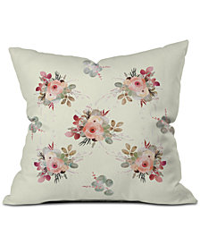 Deny Designs Iveta Abolina Rose Tan Throw Pillow