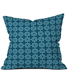 Deny Designs Khristian A Howell Moroccan Mirage Blue Throw Pillow