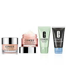 Choose your FREE cleanser and moisturizer with $55 Clinique Purchase!
