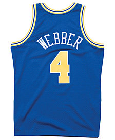 Mitchell & Ness Men's Chris Webber Golden State Warriors Hardwood Classic Swingman Jersey