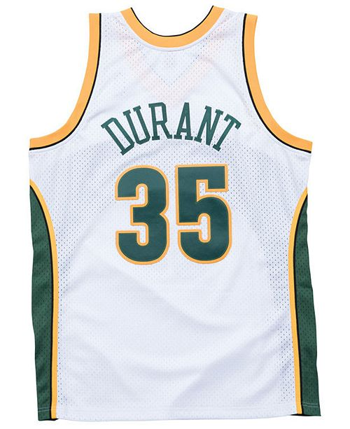 sports shoes d74e7 13918 Men's Kevin Durant Seattle SuperSonics Hardwood Classic Swingman Jersey