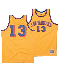 Mitchell & Ness Men's Wilt Chamberlain San Francisco Warriors Hardwood Classic Swingman Jersey