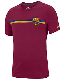 Nike Men's FC Barcelona Team Stripe Crest T-Shirt