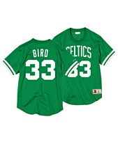Mitchell   Ness Men s Larry Bird Boston Celtics Name and Number Mesh  Crewneck Jersey c5f754f99