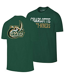 Retro Brand Men's Charlotte 49ers Team Stacked Dual Blend T-Shirt