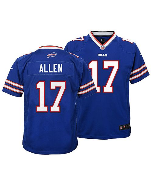 new product e3b6e 89c5c Josh Allen Buffalo Bills Game Jersey, Big Boys (8-20)