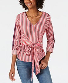 Almost Famous Juniors' Tie-Front Top