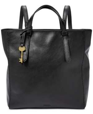 Image of Fossil Camilla Convertible Leather Backpack