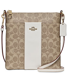 COACH Messenger Mini Signature Crossbody