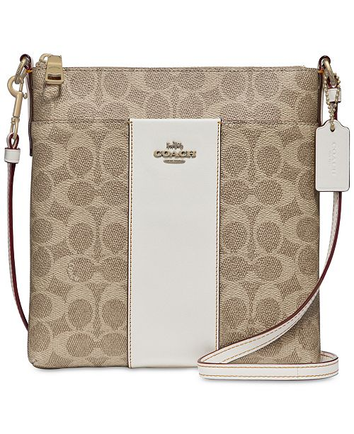 36cad13f4f52 COACH Messenger Mini Signature Crossbody  COACH Messenger Mini Signature  Crossbody ...