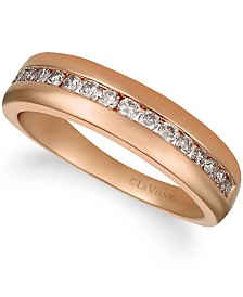 His By Le Vian Nude Diamonds™ (1/2 ct. t.w.) Band in 14k Rose Gold