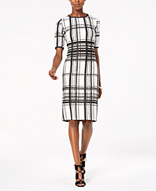 Taylor Plaid Jacquard-Knit Dress