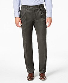 Men's Classic-Fit UltraFlex Stretch Micro-Twill Pleated Machine Washable Dress Pants