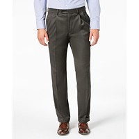 Lauren Ralph Men's Classic-Fit UltraFlex Stretch Pleated Dress Pants