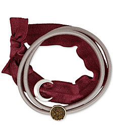 Lucky Brand Two-Tone 2-Pc. Set Celestial Stone Ponytail Holders, Created for Macy's