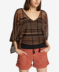 Sanctuary Island Striped Poncho Top