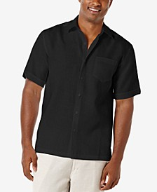 Men's 100% Linen Short-Sleeve Shirt