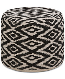 Trevyn Round Pouf, Quick Ship