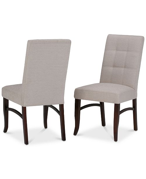 Simpli Home Oakdan Dining Chair (Set of 2), Quick Ship