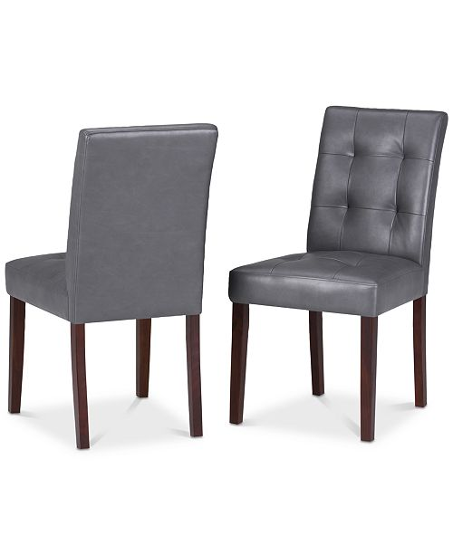 Simpli Home Mintun Dining Chair (Set of 2), Quick Ship