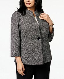 Kasper Plus Size Jacquard Jacket