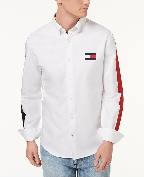 19be8233 ... Tommy Hilfiger Men's New England Brooks Classic Fit Shirt, Created for  Macy's ...
