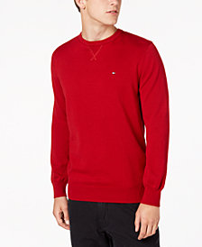 Tommy Hilfiger Men's Signature Solid Crew-Neck Classic Fit Sweater, Created for Macy's