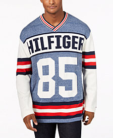 Tommy Hilfiger Denim Men's Puck Logo V-Neck Sweater, Created for Macy's
