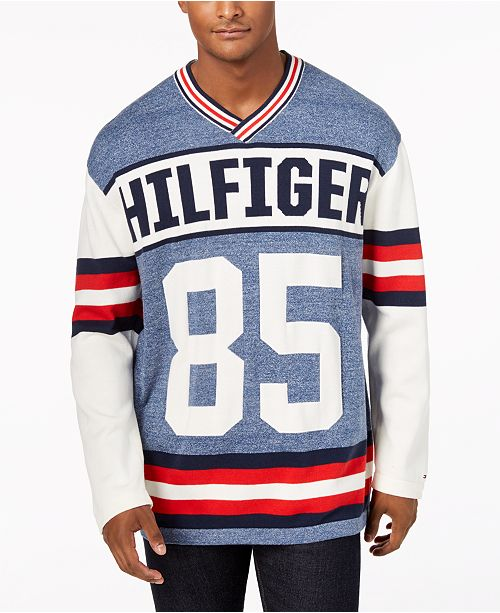 Tommy Hilfiger Mens Puck Logo V Neck Sweater Created For Macys
