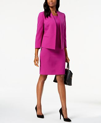 Le Suit Flyaway Jacket Dress Suit Wear To Work Women Macy S