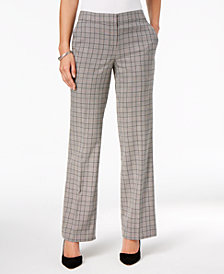 Nine West Plaid Trousers