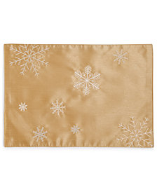 "Bardwil Christmas Sparkle Embroidered 13"" x 19"" Placemat"