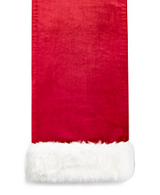 "Elrene Velvet Lux Faux-Fur 13"" x 70"" Table Runner"