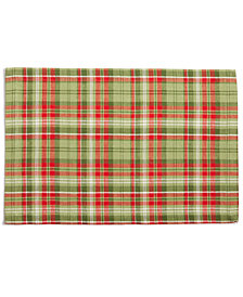 CLOSEOUT! Split P Evergreen Plaid Placemat