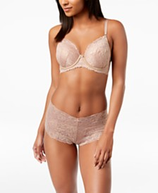 I.N.C. Perfect Coverage Lace T-Shirt Bra & Boyshorts, Created for Macy's
