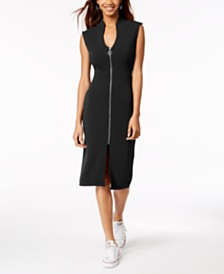 Almost Famous Juniors' Zip-Front Dress