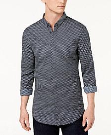 A|X Armani Exchange Men's All Over Ditsy Slim-Fit Mini-Logo Print Shirt