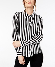 INC Striped Button-Down Shirt, Created for Macy's