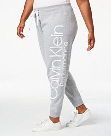 Calvin Klein Performance Plus Size Fleece Logo Joggers