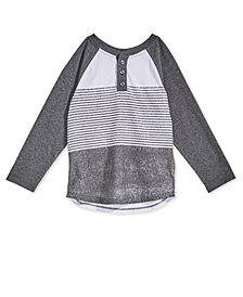 Epic Threads Little Boys Graphic-Print Henley T-Shirt, Created for Macy's