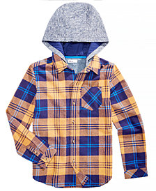 Epic Threads Big Boys Layered-Look Plaid Hoodie, Created for Macy's