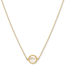"Mother-of-Pearl 17"" Pendant Necklace in 14k Gold"