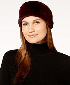 Calvin Klein Two-Tone Faux-Fur Headband