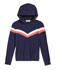 Pink Republic Big Girls Chevron Hooded Top