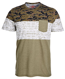 American Rag Men's Camo Colorblocked Pocket T-Shirt, Created for Macy's